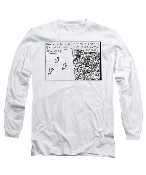 Two Panels How Much Everyone Got Upset In Real Long Sleeve T-Shirt