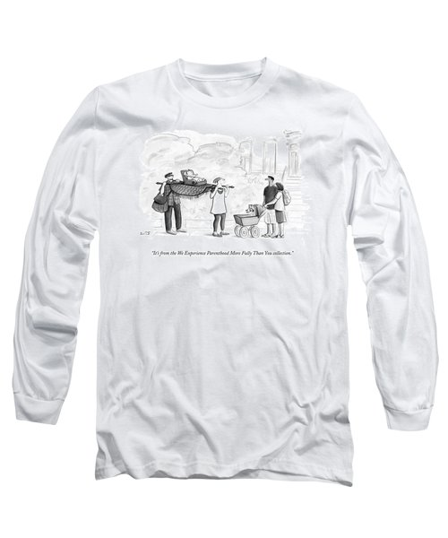 Two Parents Carrying Their Baby On A King's Long Sleeve T-Shirt