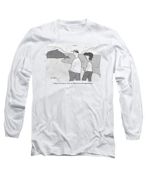 Two People Are Seen Speaking As They Walk Long Sleeve T-Shirt