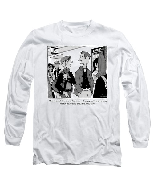 Two People Are Seen Walking Out Of A Theater Long Sleeve T-Shirt