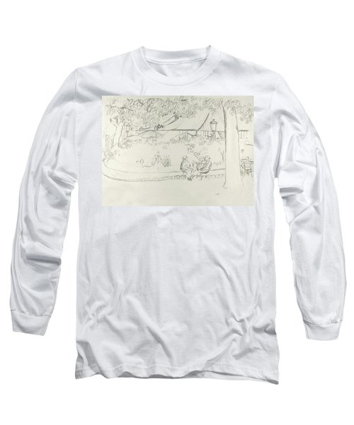 Two People At A Small Park Long Sleeve T-Shirt
