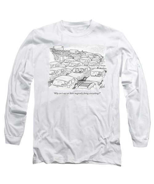Two People In A Car Speak While Sitting Long Sleeve T-Shirt