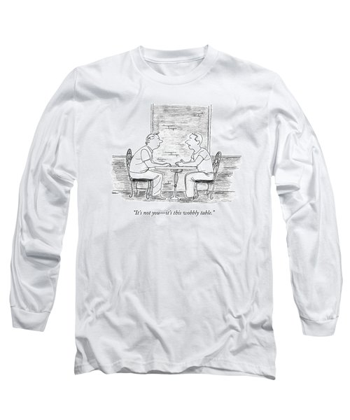 Two People Sit At A Table Long Sleeve T-Shirt