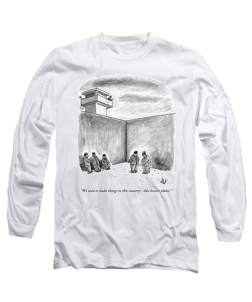 Two Prisoners Talk In The A Prison Yard Long Sleeve T-Shirt