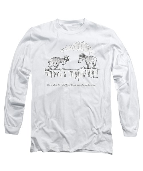 Two Rams Talk To Each Other Long Sleeve T-Shirt
