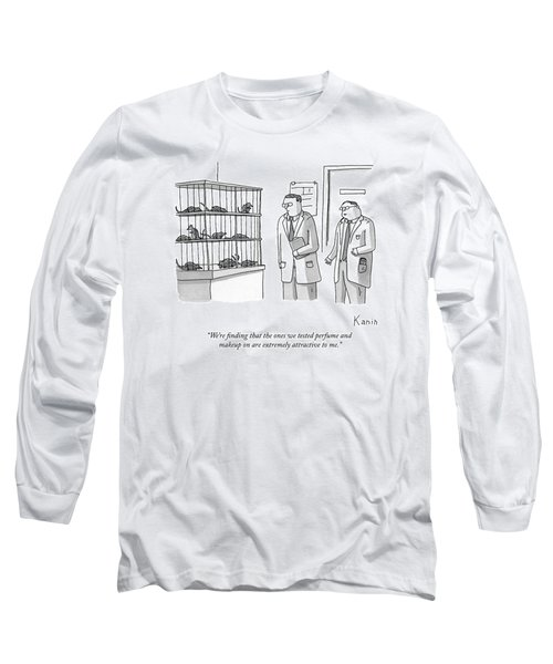 Two Scientists Look At Rats In A Lab Cages Long Sleeve T-Shirt