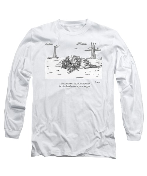 Two Soldiers Talk While Hidden Behind A Bunker Long Sleeve T-Shirt