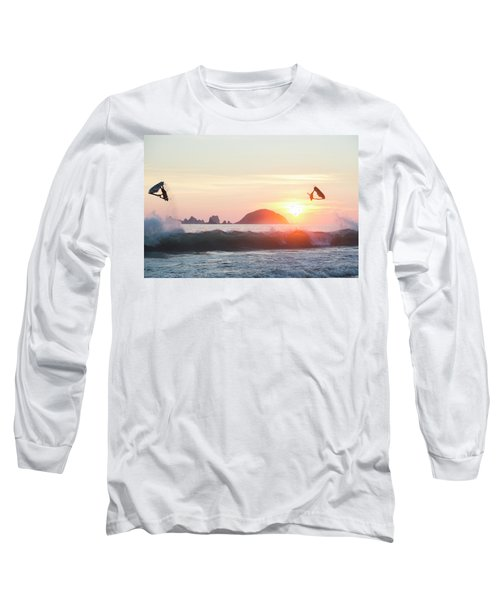 Two Stand Up Jet Skis Performing Aerial Long Sleeve T-Shirt
