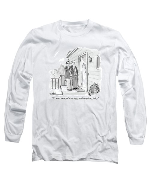 Two Suited Men Stand On The Doorstep Of A House Long Sleeve T-Shirt