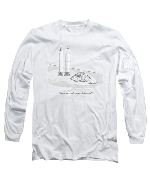 Two Tall Candles Talk To A Lumpy Long Sleeve T-Shirt