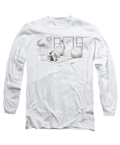 Two Tirck-or-treaters--one Is A Witch Long Sleeve T-Shirt