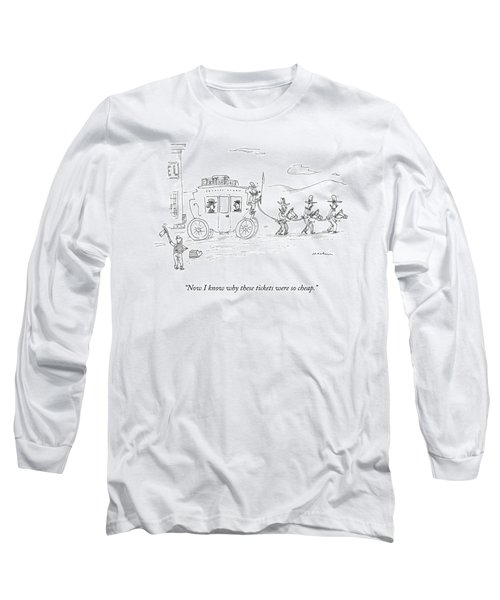 Two Travellers On Stagecoach Notice That Long Sleeve T-Shirt