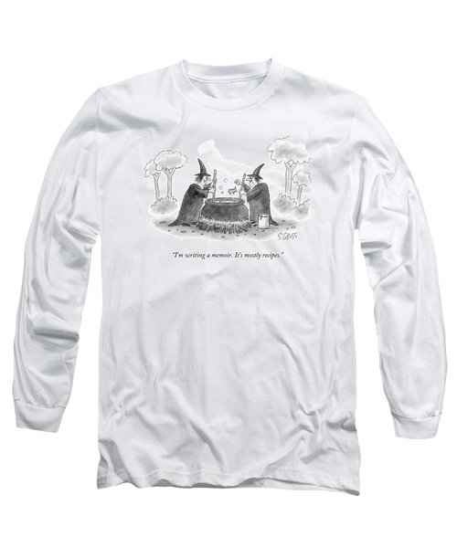 Two Witches Speak As One Throws A Frog Long Sleeve T-Shirt