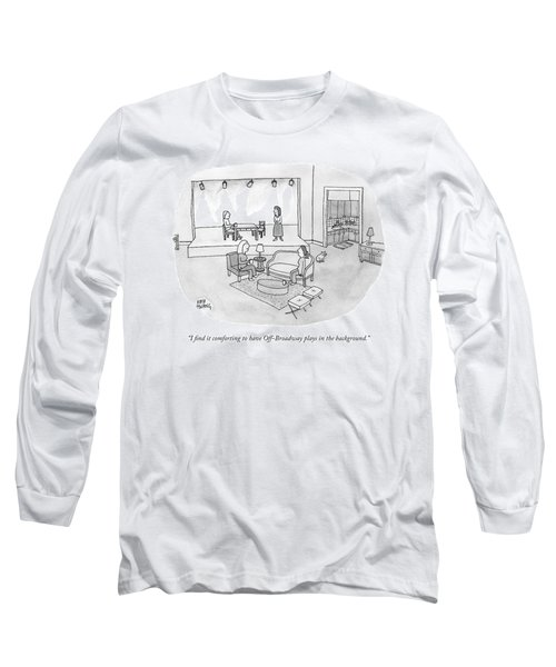 Two Women Chat In A Living Room Long Sleeve T-Shirt