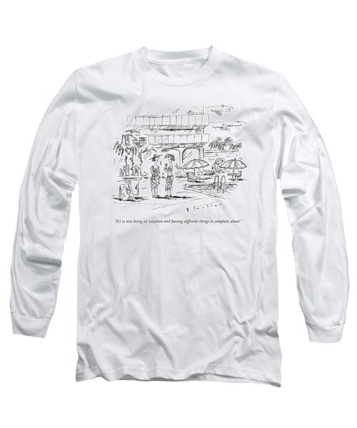 Two Women In A Warm Holiday Resort Speak To Each Long Sleeve T-Shirt