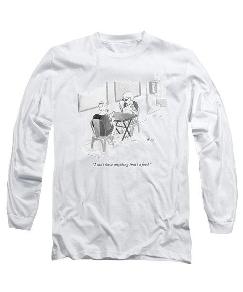 Two Women Speak In A Restaurant Long Sleeve T-Shirt