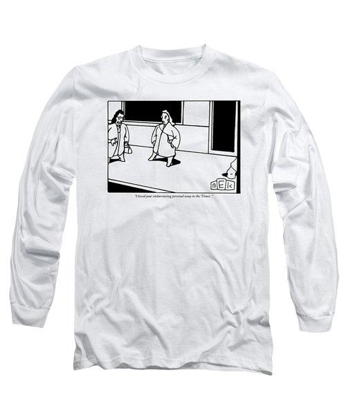Two Women Talk On A Street Corner Long Sleeve T-Shirt