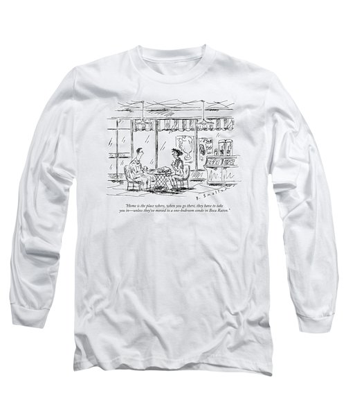 Two Younger People Speak At A Coffee Shop Long Sleeve T-Shirt