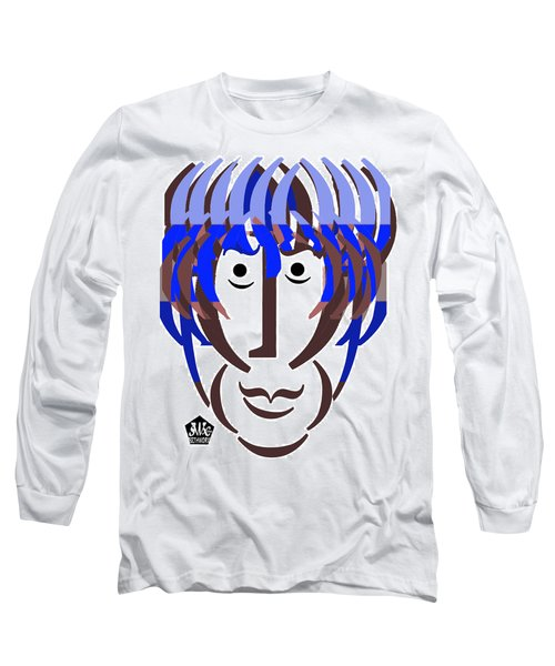 Typortraiture George Harrison Long Sleeve T-Shirt