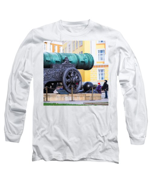 Tzar Cannon Of Moscow Kremlin - Square Long Sleeve T-Shirt by Alexander Senin