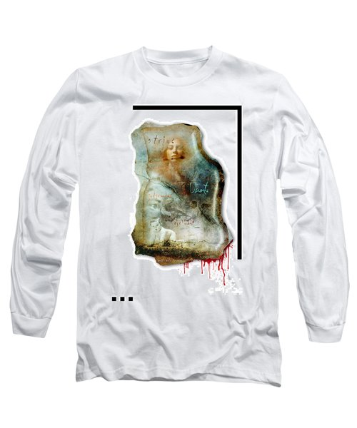 Long Sleeve T-Shirt featuring the mixed media Ubuntu by Paul Davenport
