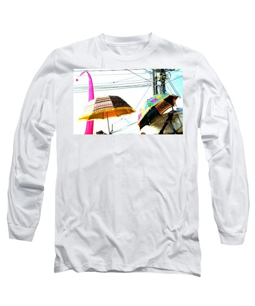 Umbrellas And Wires Long Sleeve T-Shirt