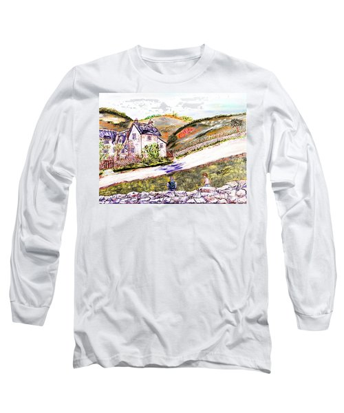 Long Sleeve T-Shirt featuring the painting An Afternoon In June by Loredana Messina
