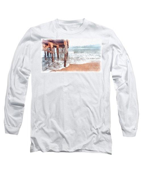 Under The Boardwalk Watercolor Long Sleeve T-Shirt