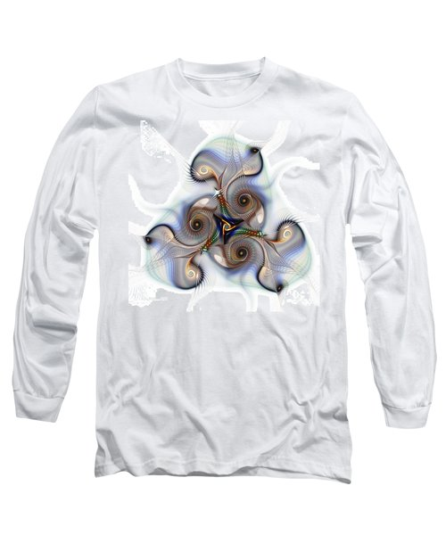 Unison Fractal Art Long Sleeve T-Shirt