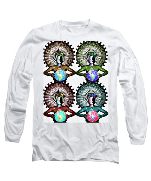 Unity-love-peace In This World Long Sleeve T-Shirt