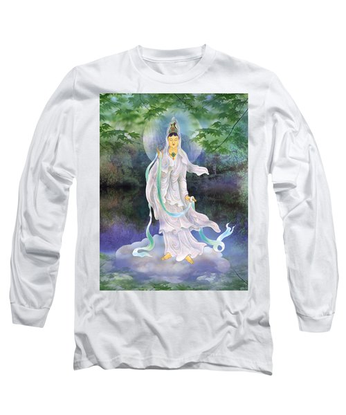 Long Sleeve T-Shirt featuring the photograph Universal Kuan Yin by Lanjee Chee
