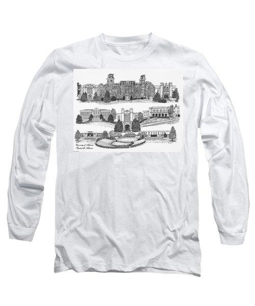 University Of Arkansas Fayetteville Long Sleeve T-Shirt by Liz  Bryant