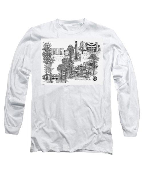 University Of Arkansas Long Sleeve T-Shirt by Liz  Bryant