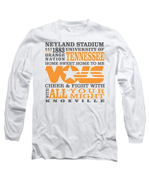 University Of Tennessee Graphic Canvas Long Sleeve T-Shirt by Debbie Karnes