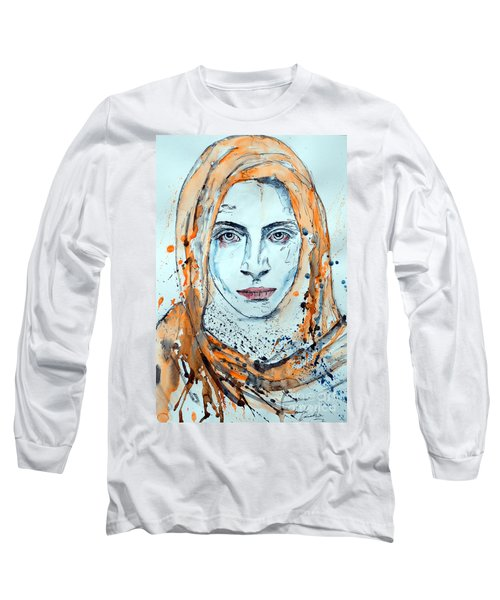 Long Sleeve T-Shirt featuring the painting Untitled 10 by Ismeta Gruenwald