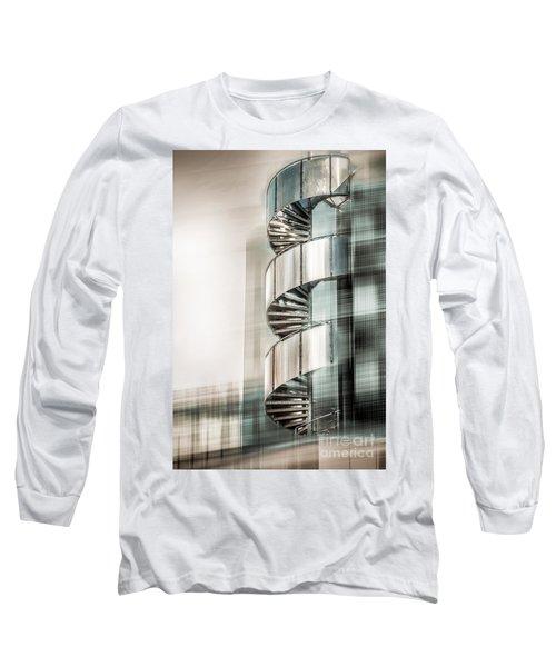 Urban Drill - Cyan Long Sleeve T-Shirt