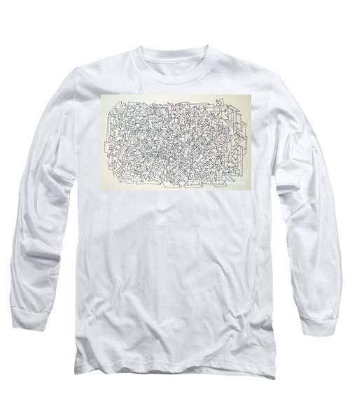 Long Sleeve T-Shirt featuring the drawing Urban Planning by Nancy Kane Chapman
