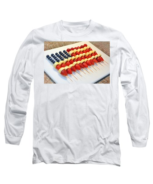 American Flag Fruit Kabobs Long Sleeve T-Shirt