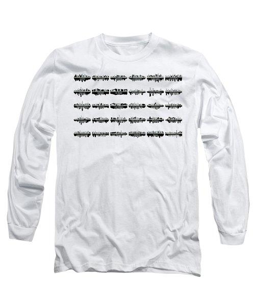 Usa Skylines 4 Long Sleeve T-Shirt