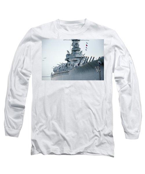 Long Sleeve T-Shirt featuring the photograph Uss Alabama 3 by Susan  McMenamin