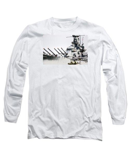 Long Sleeve T-Shirt featuring the photograph Uss Alabama by Susan  McMenamin