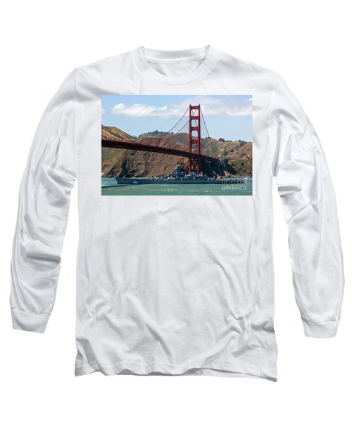 U.s.s. Iowa Up Close Long Sleeve T-Shirt by Kate Brown