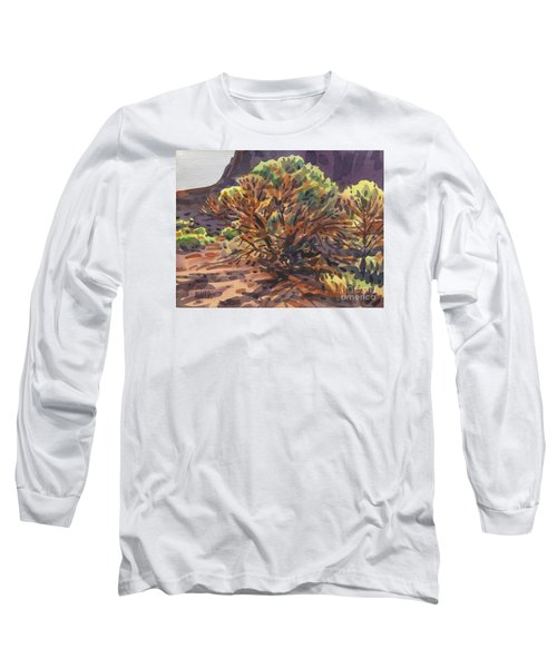 Long Sleeve T-Shirt featuring the painting Utah Juniper by Donald Maier