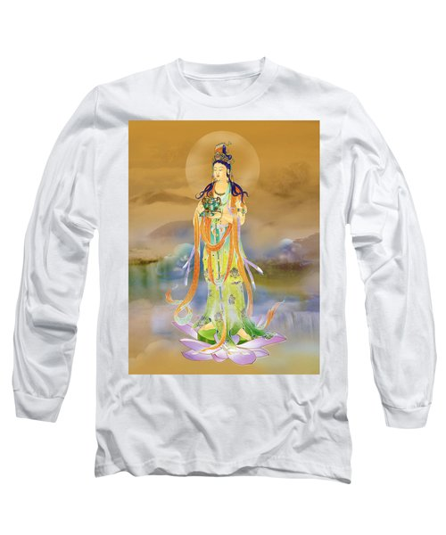 Long Sleeve T-Shirt featuring the photograph Vaidurya  Kuan Yin by Lanjee Chee
