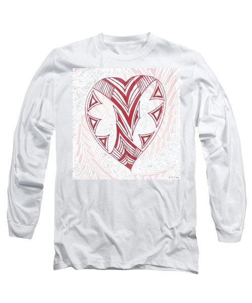 Valentine Heart Long Sleeve T-Shirt by Amanda Holmes Tzafrir