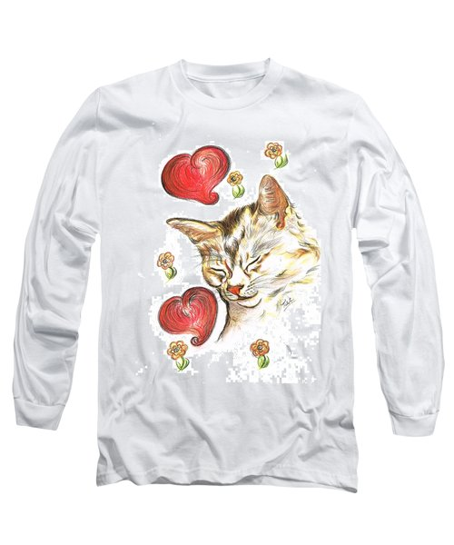 Valentine Cat Long Sleeve T-Shirt