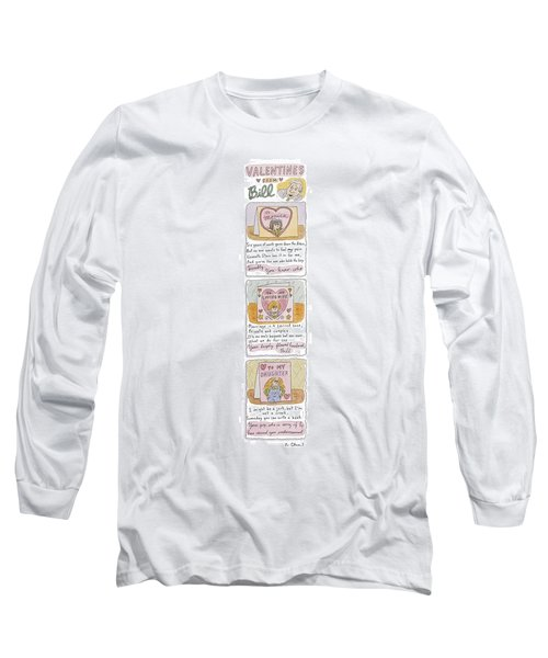 Valentines From Bill To Monica Long Sleeve T-Shirt