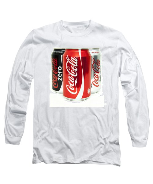 Various Coke Cola Cans Long Sleeve T-Shirt by Antony McAulay