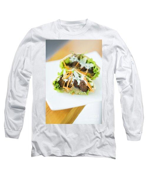 Vegetarian Falafel In Pita Bread Sandwich Long Sleeve T-Shirt