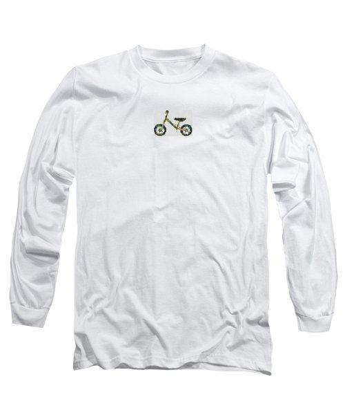 Long Sleeve T-Shirt featuring the digital art Green Yummy Bike by Maciek Froncisz